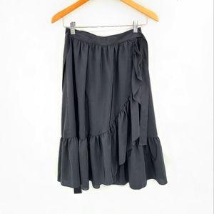 Vintage Wrap Ruffle Skirt